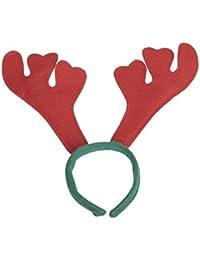 Wilk Fiesta de Navidad Fiesta marrón Oreja Cornamenta Diadema Rojo 1 Paquete