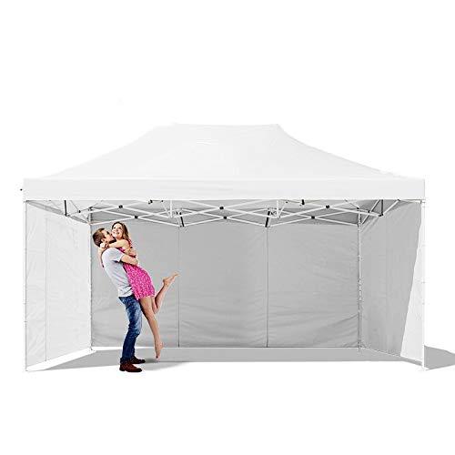 Boudech tenda/gazebo per giardino 3x4,5 mt impermeabile tendone pieghevole per fiere e mercati colore bianco *3x4,5b.coxgiard*
