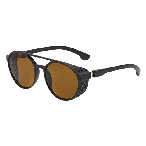 Rcool Occhiali da Sole Vintage Uomo Retro Polarizzati Moda Protezione UV400 Eyewear - Occhiali da Sole Rotondi