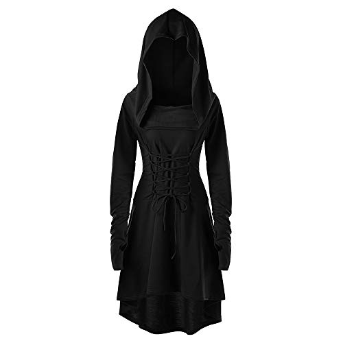 AMUSTER Damen Kleid Lose Minikleid Gothic Kleid Cocktail -