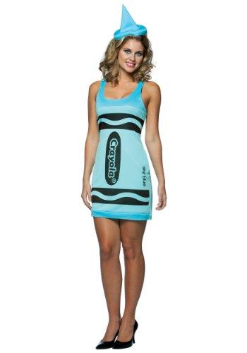 Rasta Imposta Crayola zeichnet Tank Dress - Adult Female Kostüm - Blau