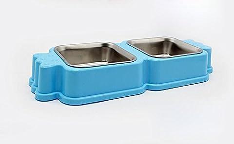 Chiens et chats chien nourriture bols du bassin de chiens et chats aliments chats bol Casseroles , bleu