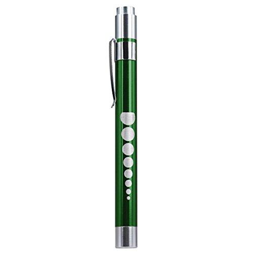 Hirolan Medizinisch Zuerst Hilfe LED Stift Licht Taschenlampe Fackel Arzt Krankenschwester EMT Notfall Mini LED Taschenlampe Lampe Wasserdichte taktische taschenlampe Lichtlampe (Grün)