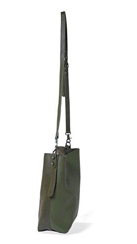 Bolsos mujer, bolsos shopper tote mujer, bolso grande verde y verde oscuro, bandolera. Bolsos MAMBO
