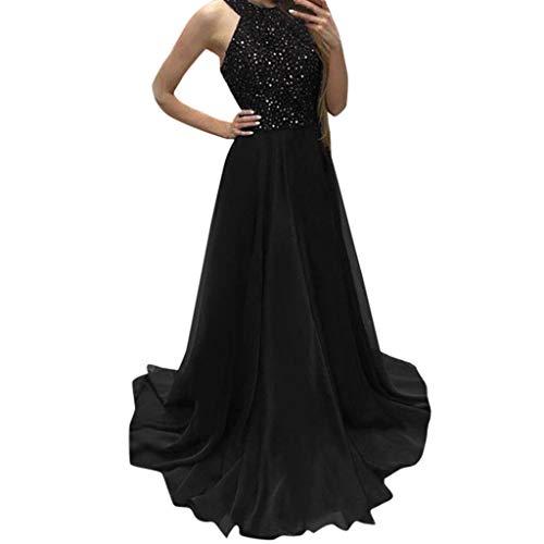 Women Dress Sunday77 Halter A-Line Sequin Floor Length for sale  Delivered anywhere in UK