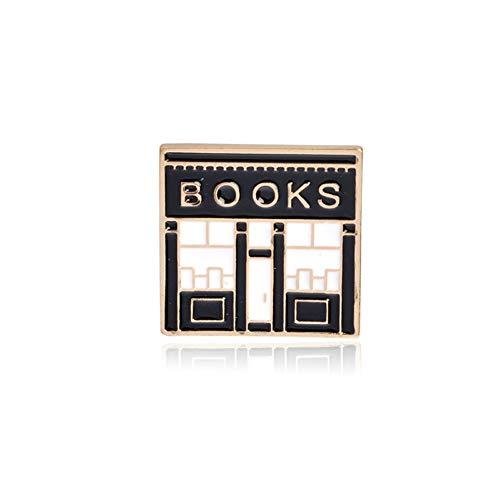 JTXZD Brosche Briefpapier Buchhandlung Nachricht Bücher 'die Zukunft ist Nickerchen' 'zu tun' Tee Trinken Machen Heimtiere sterben 'Metallbroschen - Kostüm Bücher Zu Machen