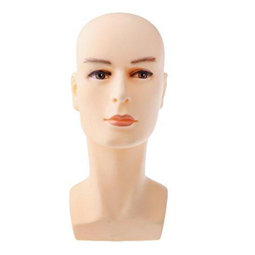 Gazechimp Männlich Herren Männer Styroporkopf / Perückenkopf für Hüte Schal Brillen Kopfhörer Halskette Display Ständer