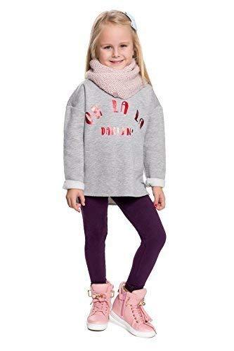 hi!mom - Kinder Winterleggings - aus Baumwolle - lang - Thermomaterial - für jedes Alter - CHILD28 - Pflaume - 11-12 Jahre