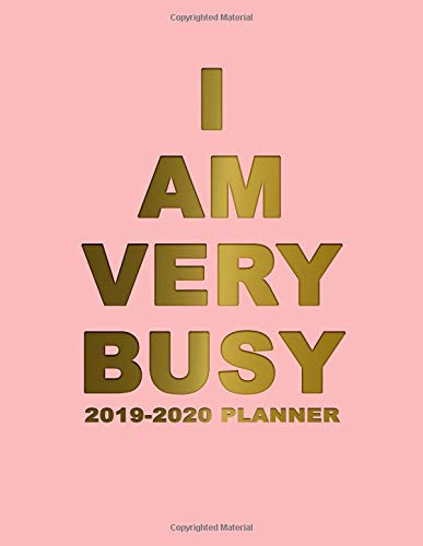I Am Very Busy 2019-2020 Planner: Pretty Rose & Gold Daily, Weekly and Monthly Planner 2019-2020. Cute Golden 2 Year Organizer, Yearly Schedule and ... and More. (Girly Personal Planners, Band 3)