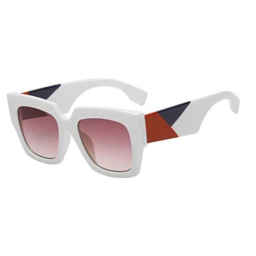 CCTYJ Sonnenbrillen Übergroße Quadratische Schild-Sonnenbrille-Damen-Moderne Rosa Gläser Modische Frauen Fshion