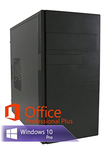 Ankermann Business Work Silent leise PC PC Intel Pentium 2X 3.0 Ghz mit Garantie HD Graphic 8GB RAM 240GB SSD Windows 10 PRO Office Professional