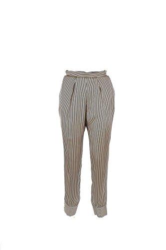 Pantalone Donna Elisabetta Franchi 42 Nero/miele Pa9254166 Autunno Inverno 2016/17