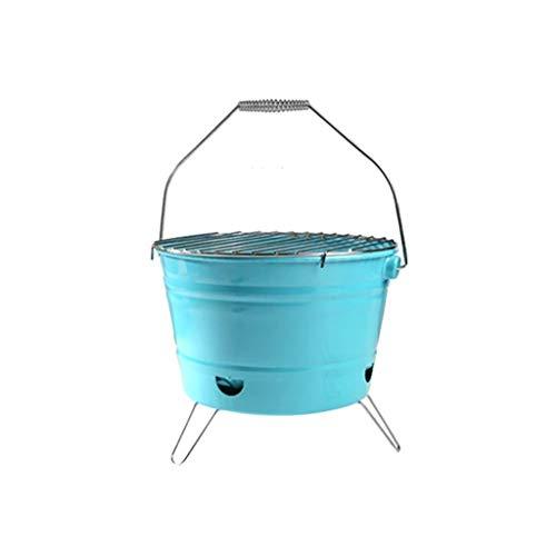 YPYJ Brazier - Feuerstelle Charcoal Brazier Ofen Vom Grill Braten Herd Startseite Barbecue Büro Heizung,Blau