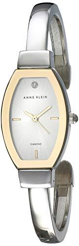 Anne Klein Reloj de Mujer Cuarzo Correa y Caja de Acero AK/2553SVTT