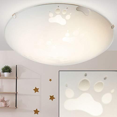 Paws lampe de plafond design pour enfants éclairant la lampe pour animaux en verre ronde Globo 4090