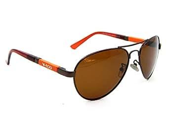 Els Unisex Polarised Sunglasses Aviator Polarized Shades 89012 Brn