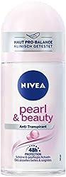 NIVEA Pure Pearl & Beauty Deo Roll On (50 ml), Antitranspirant Roller für gepflegte Achselhaut, Deodorant mit 48h Schutz