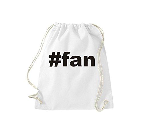 Borsa Da Ginnastica #fan Hashtag Gymsack Cult Bag Bianco