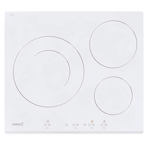CATA IB 6030 WH Integrado, con Placa de inducción, Blanco, 1200 W, Alrededor, 16 cm, 2700 W, Vidrio...