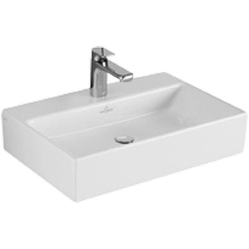 Villeroy & Boch Aufsatzwaschbecken MEMENTO 50x42cm mit Überlauf weiß alpin mit Ceramikplusbeschichtu