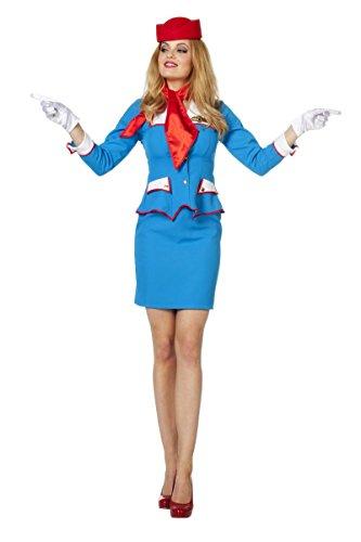 Damen Kostüm Flugbegleiterin Stewardess Karneval Fasching Gr.36