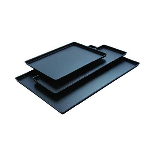 PEGANE Plateau en ABS Noir Aspect Fonte - 58 x 19,5 cm