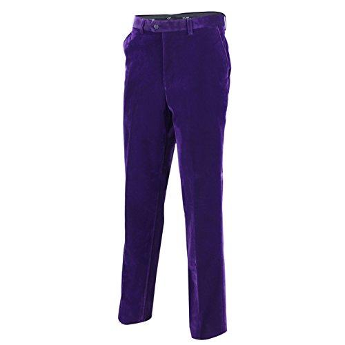 Uomo velluto marrone vintage 3tuta giacca gilet pantaloni venduto separatamente Purple