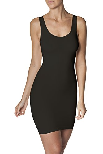 Sleex sottoveste modellante (con spalline larghe), nero, taglia m/l