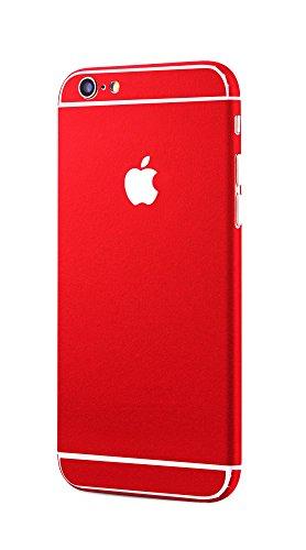 Apple iPhone 6s, iPhone 6 rundum Schutzfolie Metallic Style Alu Optik Skin Glamour Sticker in rot von PhoneStar