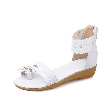 LvYuan Sandali-Tempo libero Formale Casual-Suole leggere Comoda-Piatto-PU (Poliuretano)-Blu Rosa Bianco White