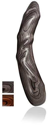 *Holzdildo von LustHoiz – Mr. Grey, G-Punkt – Sextoy aus Holz für Sie, für Paare, Naturprodukt, Holz, Farbe: anthrazit, G-Spot Dildo*
