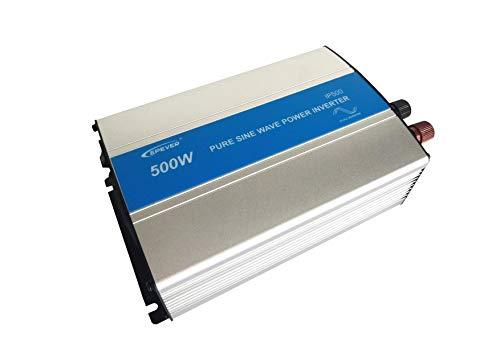 EPEVER® REINER SINUS Spannungswandler IP Serie Inverter Wechselrichter 12V DC auf 230V AC Stromwandler (IP500-12, 500W 12V/230V) Ac-stromwandler