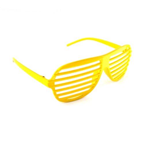 Gelb / Yellow Neuheit-Shutter Shades Sonnenbrille