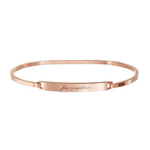 Gravado braccialetto da donna in acciaio inossidabile - color bronzo - personalizzato con nome - gioiello regalo per il compleanno o natale - idea romantica per san valentino - scatola regalo