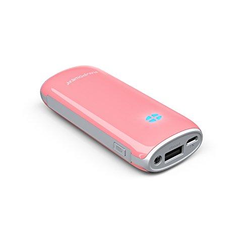 RAVPower Luster RP-PB17 Caricabatterie Portatile 6000mAh 5V 2.1A per Cellulari, Tablet e Smartphone di Tutte le Marche, Carica Velocemente iPhone, iPad e Android (Rosa)