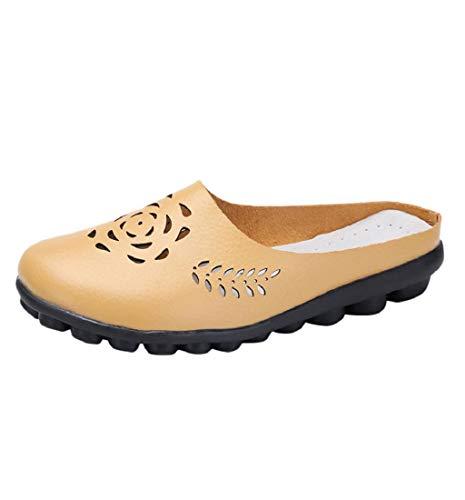 HupoopDamenschuhe Lady Flats Sandalen Slip-On Ankle Casual Slipper Weiche Schuhe(Gelb,37) - Gepolsterte Womens Athletische Socken
