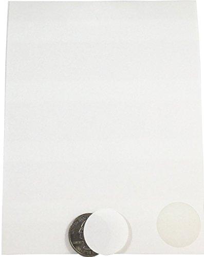 Blanco Circulo Punto Pegatinas, 25 mm 1 Pulgada Redondo, 10 Hojas de 20 Pegatinas, 200 Etiquetas Totales