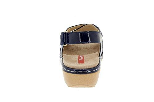 Scarpe donna comfort pelle Piesanto 4813 sandali soletta estraibile comfort larghezza speciale Marino