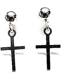 d3897967bda2 Amazon.es  pendientes cruz plata largos - Inmaculada Romero ™  Joyería