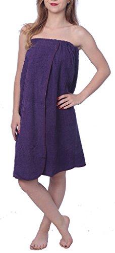 Beverly Rock Damen Dusch- und Badetuch Baumwolle Terrey wasserabsorbierend - Violett - Einheitsgröße -