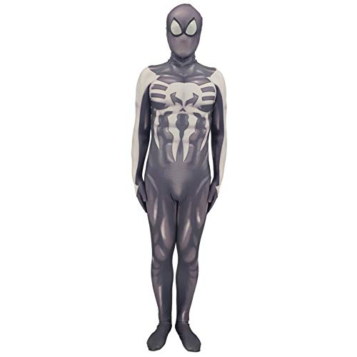 QQWE Spiderman Cosplay Kostüm Punisher Spiderman Bodysuit Jumpsuits Kleidung Film Spiel Rollenspiel Kostüm Requisiten,Adult-L (Punisher Cosplay Kostüm)