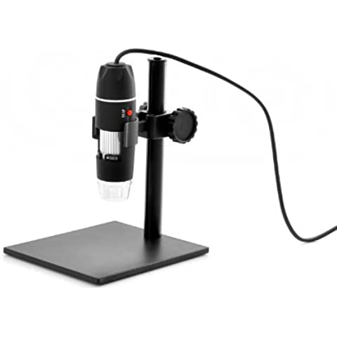 USB microscopio Digital – 500 x Zoom, 8 LEDs, Altura soporte ajustable – ENVÍO DESDE China/Hong