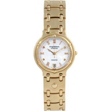 krug-baumen-5116dm-charleston-4-diamond-white-dial-gold-strap