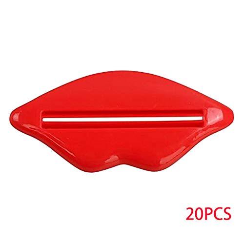 20Pcs / Set Badezimmer Lippen Zahnpasta Presse Gesichtsschaum mildy Wäsche Rohr-Schlauch-Zufuhr-Quetscher