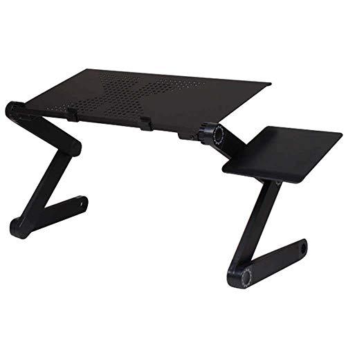 ZHLT Laptop Ständer Flatbare Tisch Vollständig Anpassungsfähiger Notebook Stand Aluminiumlegierung Tragbares Bett Frühstück Tablett Buch Ständer für Ultrabook Notebook bis zu 17