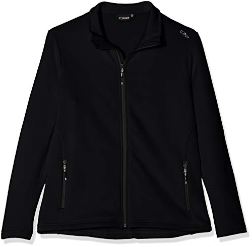 CMP Damen Stretch Fleece Sweatjacke, Nero/Ice, 40 -