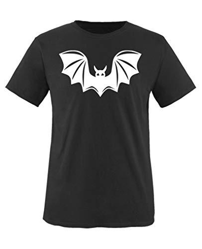 Comedy Shirts - Halloween Fledermaus - Jungen T-Shirt - Schwarz/Weiss Gr. 152-164