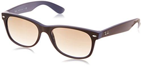 Ray Ban Unisex Sonnenbrille New Wayfarer, Gr. Large (Herstellergröße: 55), Schwarz (schwarz 874/51)