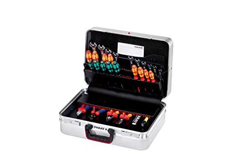 Prarat Werkzeugkoffer CLASSIC KingSize Safe, Ordnungssystem CP-7 - 2 Zahlenschloss, 1 Längssteg 3 Querstegen, 49x41x23cm - 589.050.171 (ohne Inhalt)