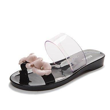 Donne'spantofole & flip-flops Estate Casual IN PVC tacco piatto Applique nero rosa altri US8 / EU39 / UK6 / CN39